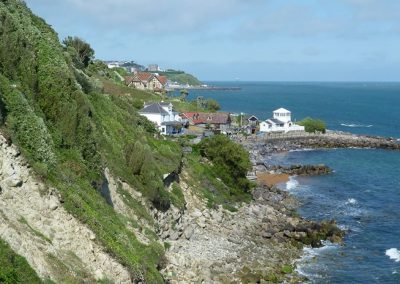 Steephill Cove taken from coastal path, isle of wight self catering accommodation