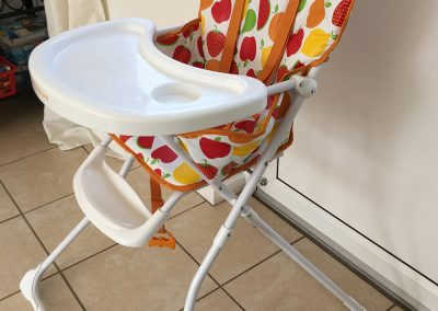 Highchair on request