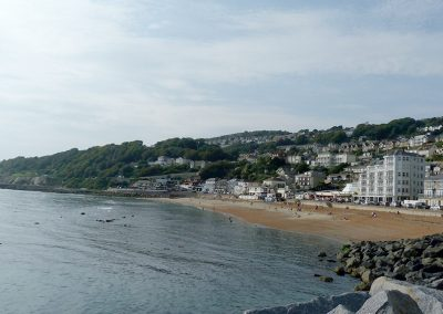 Ventnor Victorian town viewed from the mariner