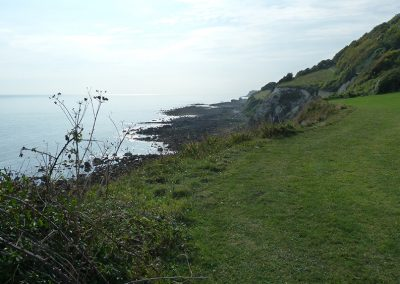 Walking home from Ventnor to Petit Tor on coastal path