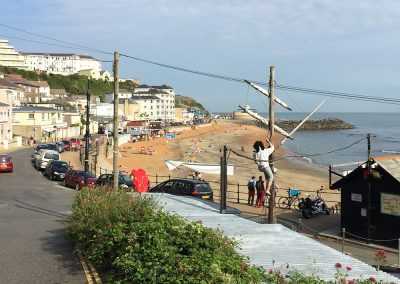 Walking to the Spyglass Inn, Ventnor along the coastal path from Petit Tor at Steephill