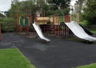Slides at Ventnor Botanic Gardens play area