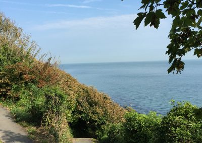 Coastal path to Ventnor from Petit Tor, isle of wight self catering accommodation
