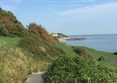 Arriving at Ventnor along coastal path from Petit Tor