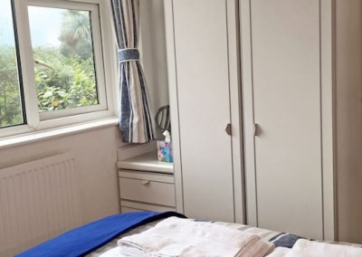 Master bedroom - Wardrobe, small chest of drawers and under bed storage