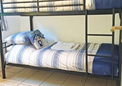Bedroom 2 - Standard bunk beds suitable for adults and children
