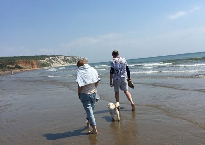 Dog friendly Yaverland Beach, Isle of Wight self catering